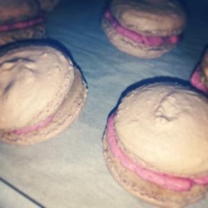 Homemade Strawberry Macarons w/Strawberry Cream Filling